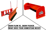 Snow Plow vs. Snow Pusher - What You Should Know!