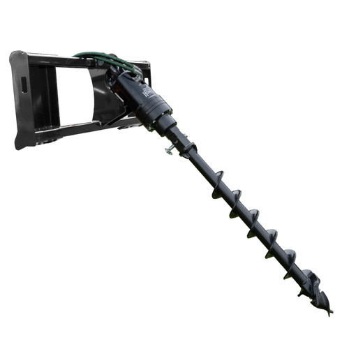 Front-End Post-Hole Digger, Black with 6 inch Auger