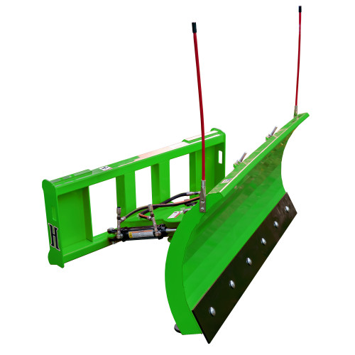 Pinnacle Series John Deere Compatible Hydraulic Snow Plow, Front View