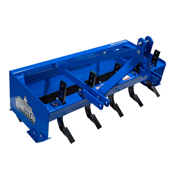 Pinnacle Series Box Blade, Blue, Front View with Shanks