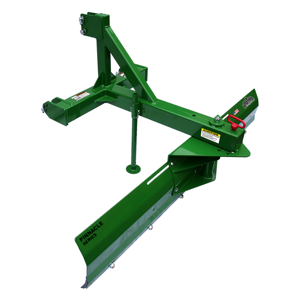 Pinnacle Series Back Blade Green, Angle View Left Side