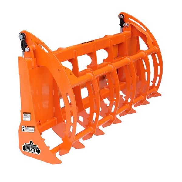 Pinnacle Series Brush Grapple Orange, Single Lid Closed Angle View