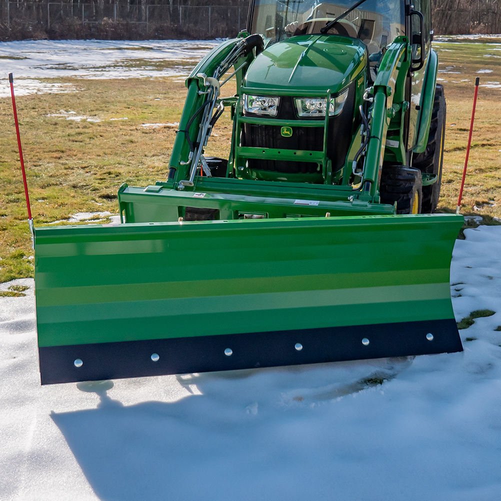 Manual Snow Plow for John Deere, Front View Cutting Angle