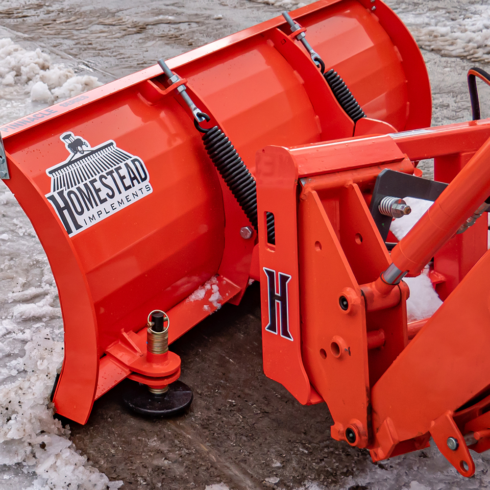 Pinnacle Series Snow Plow, Hydraulic,  Adjustable Skid Shoes and Angled Plow