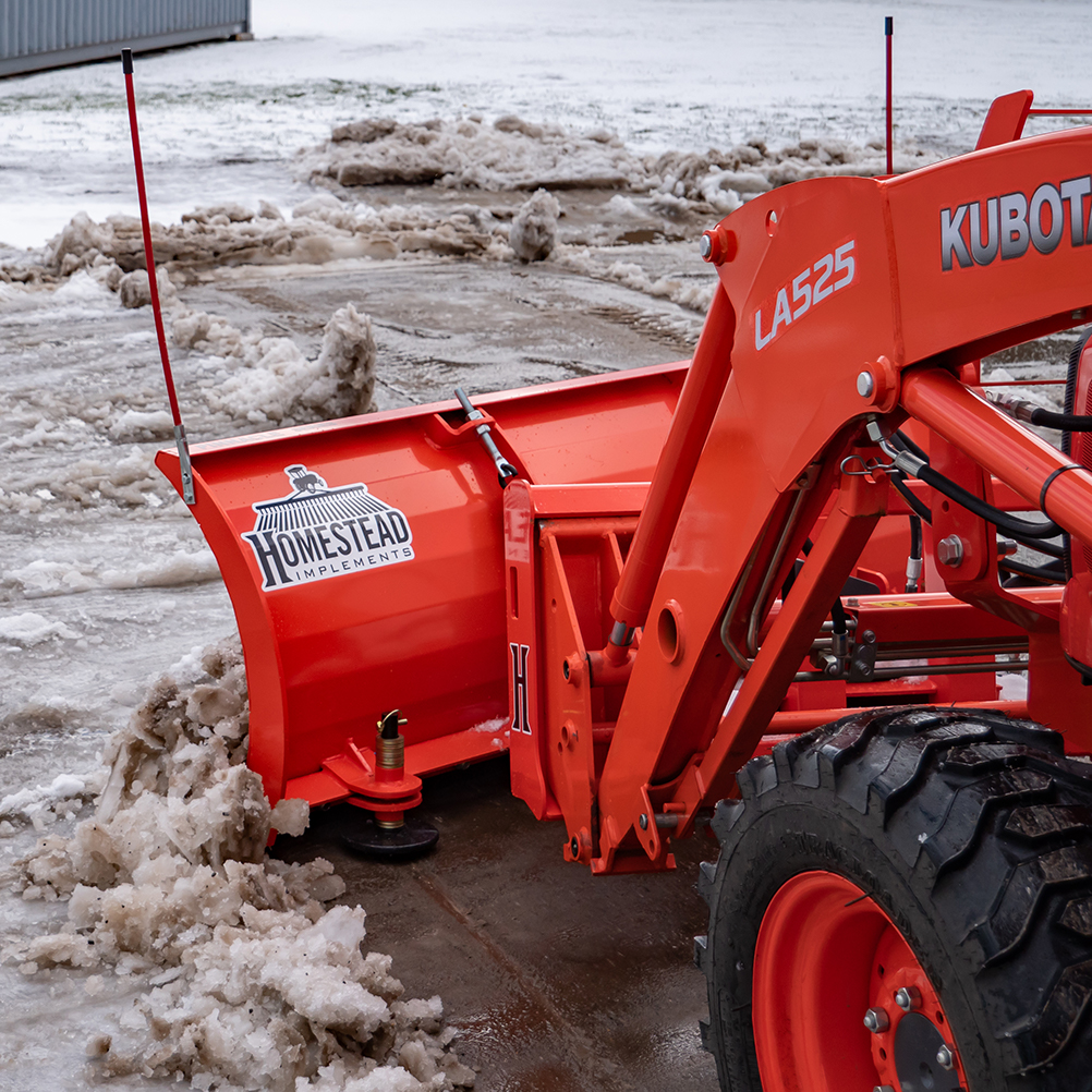 Manual Snow Plow, Scraping Ice & Snow