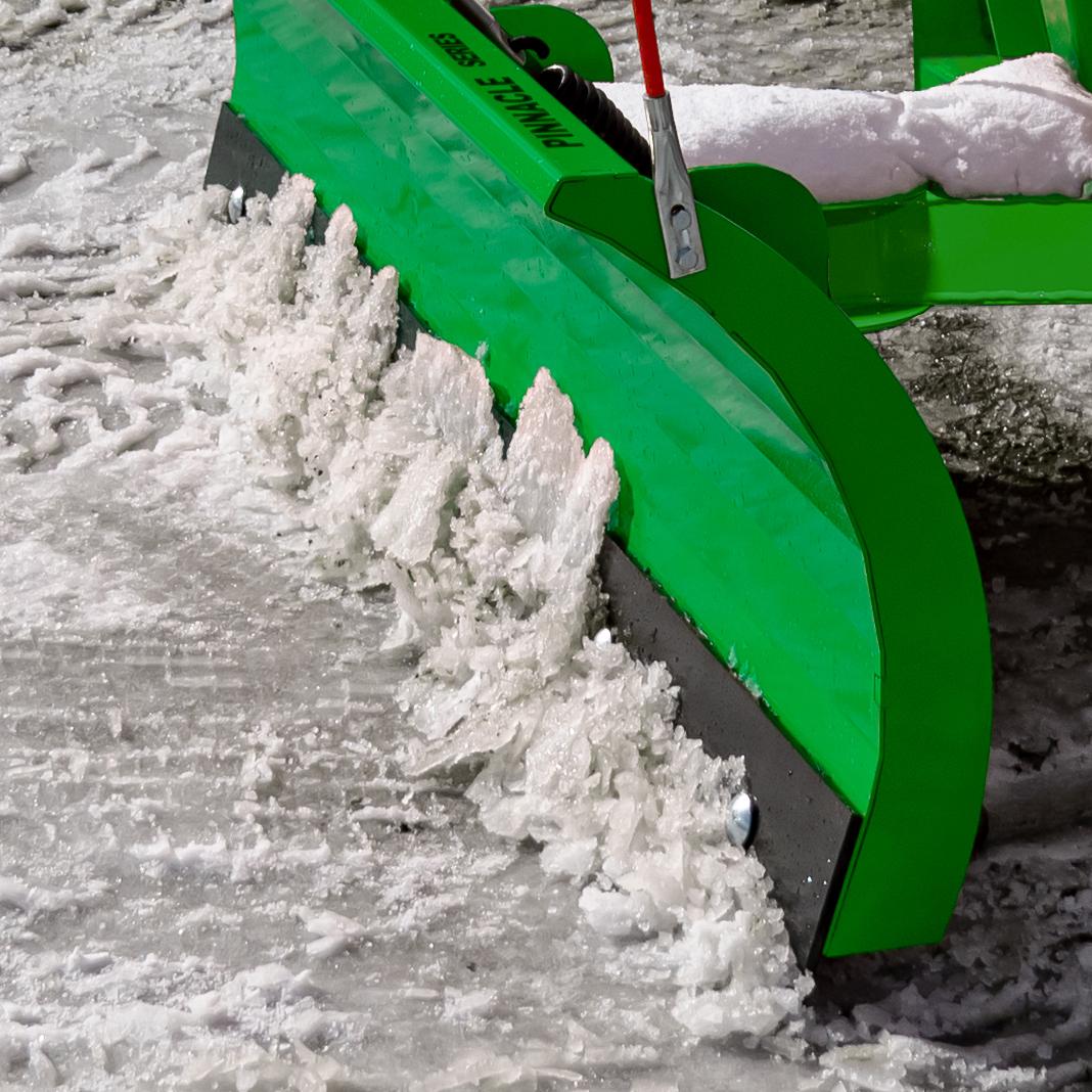 Manual Snow Plow for John Deere with scrape blade.