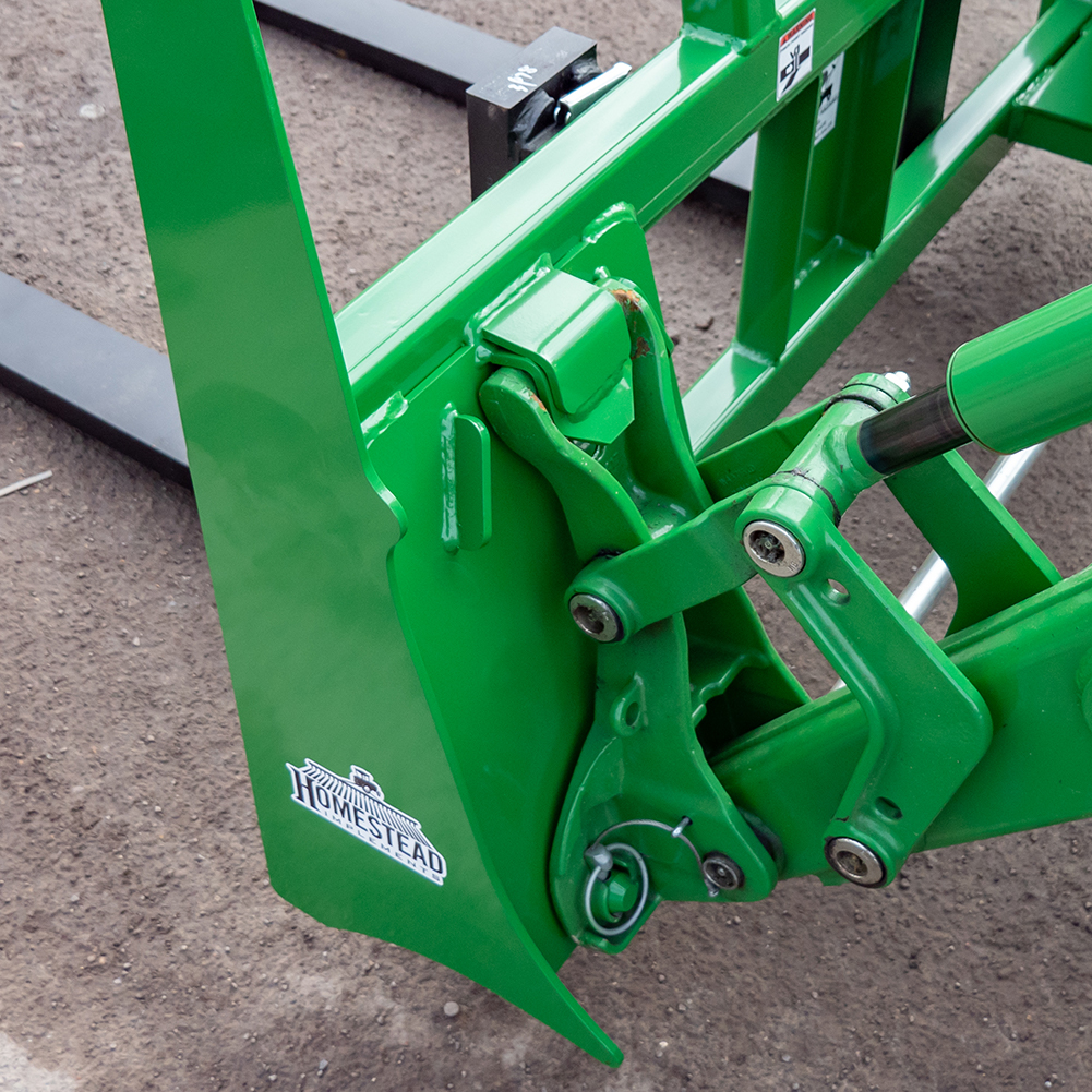 John Deere hook and pin front end loader system