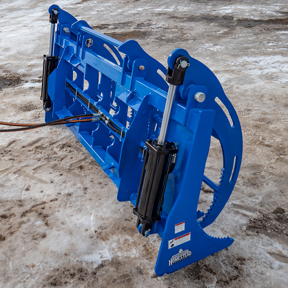 Front Tines, Blue, Heavy-Duty Grapple