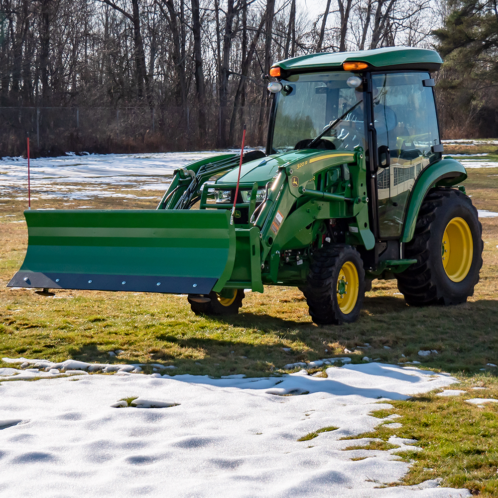 Manual Snow Plow for John Deere, Front View