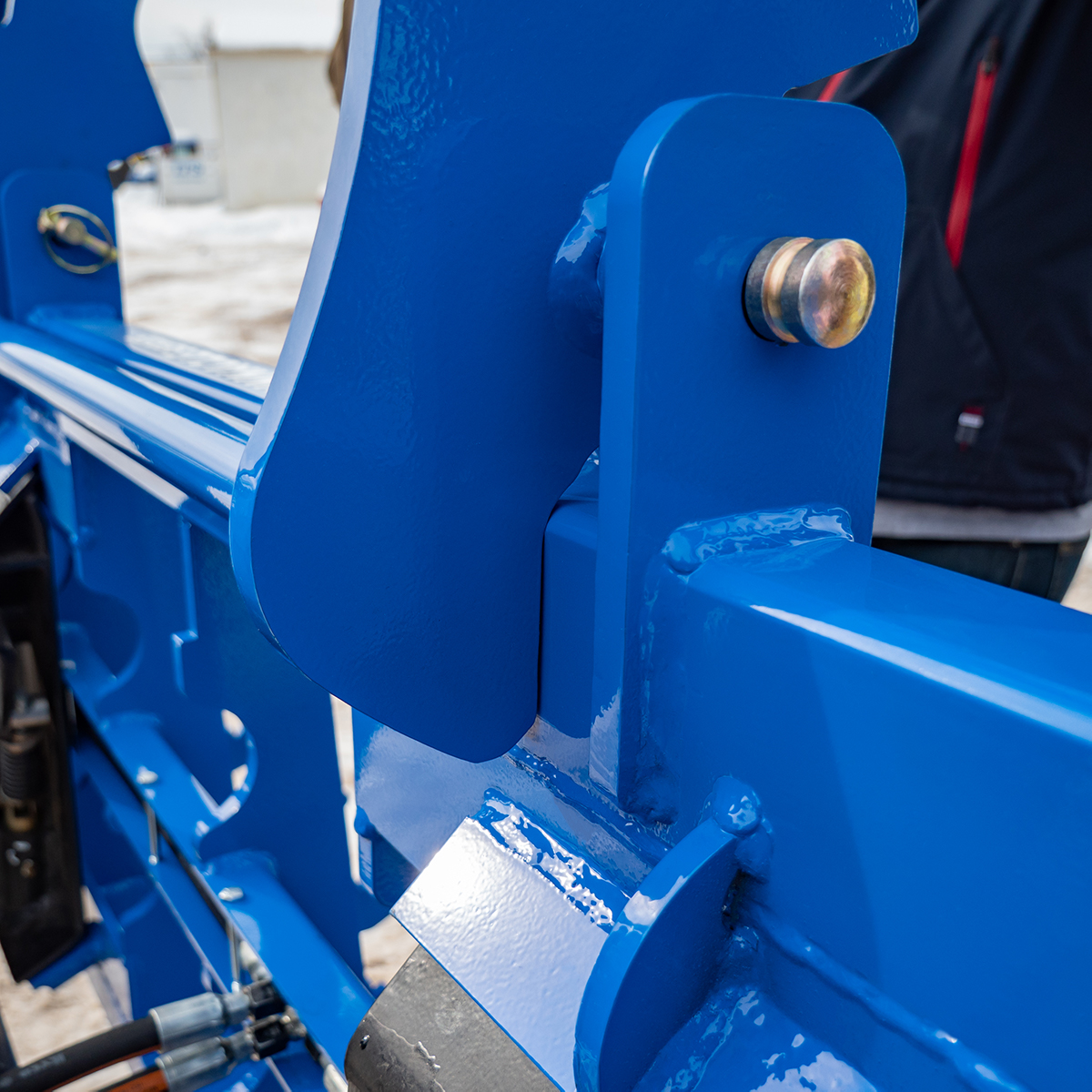 Mechanical Stop Feature, Blue, Heavy-Duty Grapple
