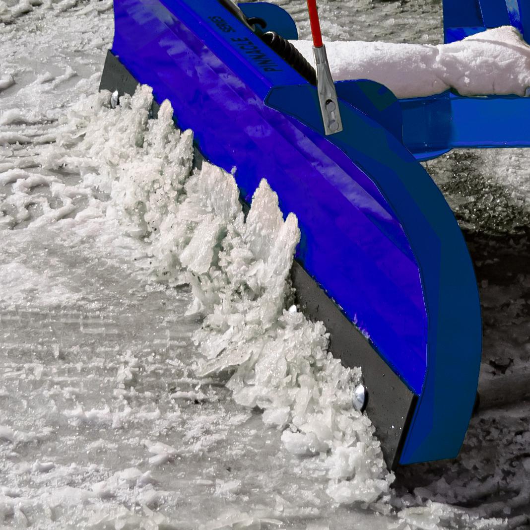 Manual Snow Plow, Blue, Scrape Blade