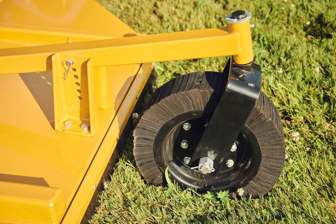 """15"""" diameter Tailwheel and tailwheel mount."""