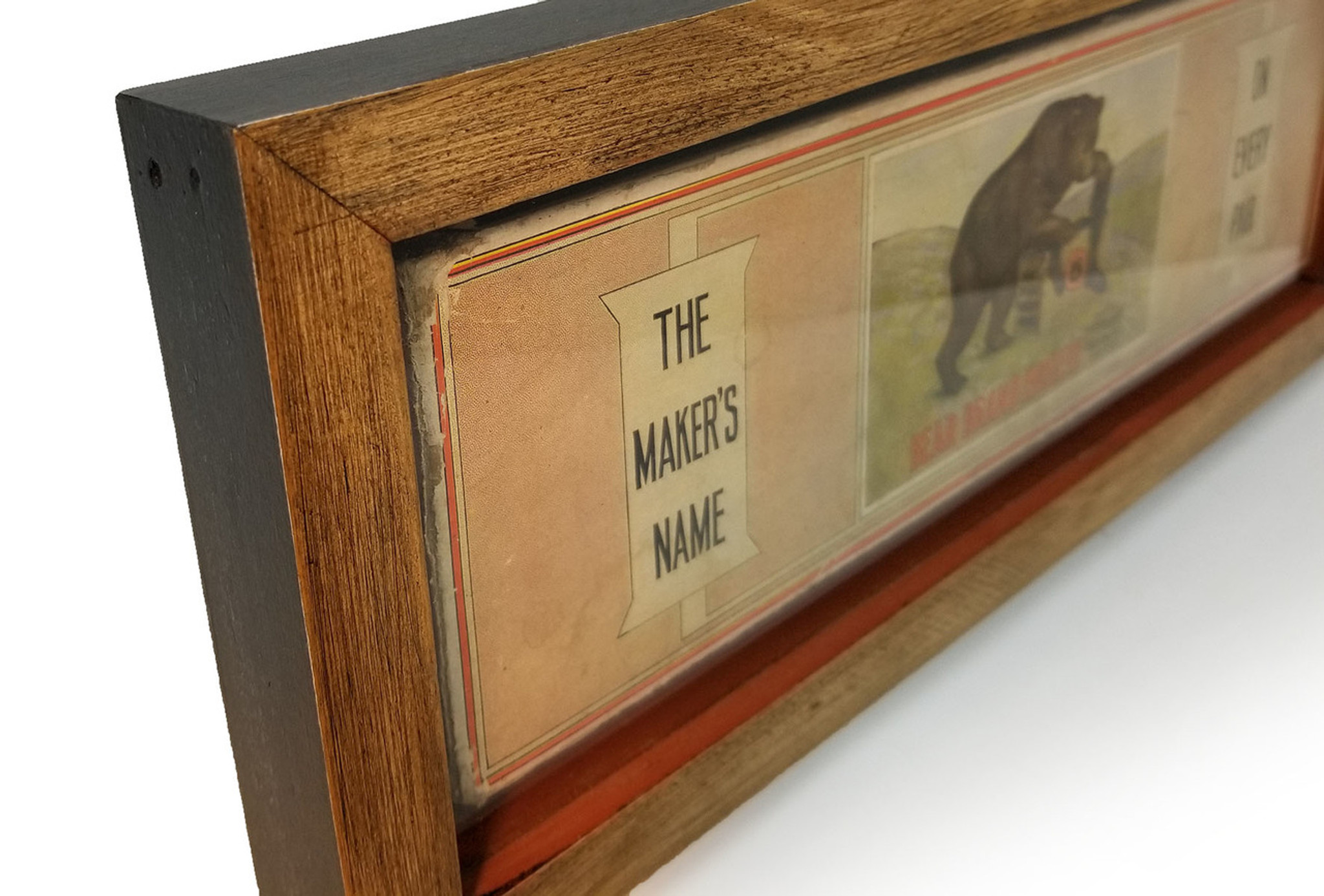 Bear Brand Hosiery Box Decor 16x6