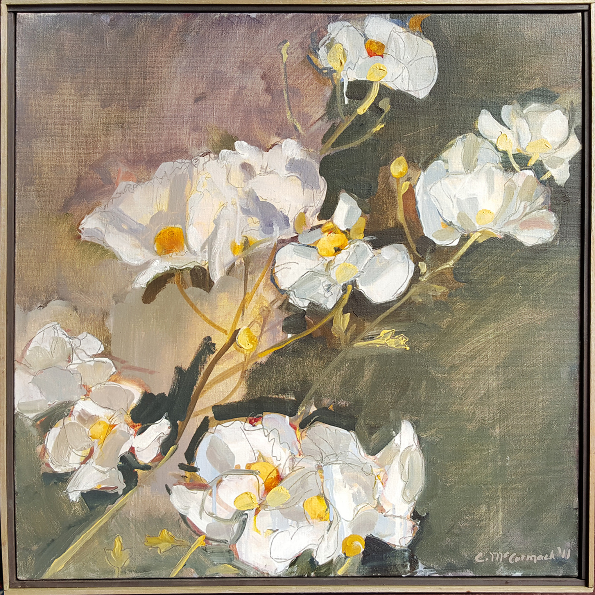 Dogwood Oil On Canvas By Catherine Mccormack Sonoma Nesting Company