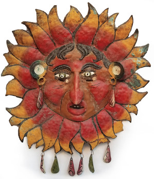 Antique Sun Man Mexican Guerrero folk Mask