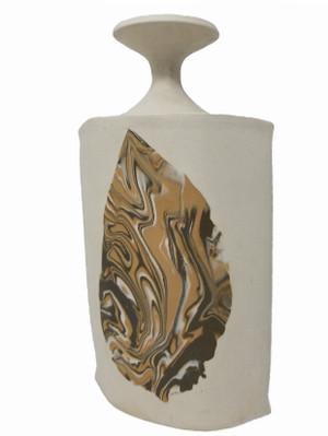 Pottery Vase - White Clay Slab