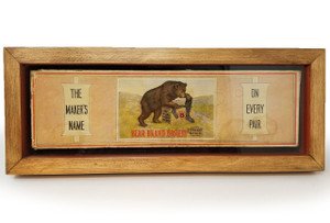 Original Bear Brand Hosiery framed art from Sonoma Nesting Company.