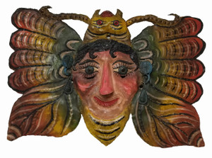 Painted copper butterfly mask from Mexico.