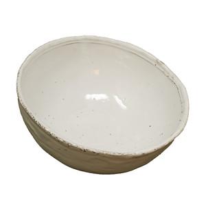 White glazed bowl by Astier de Villatte.