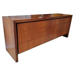 Milo Baughman midcentury modern walnut dresser.