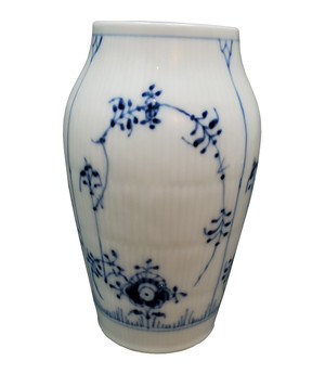 Royal Copenhagen Blue Fluted Plain Vase 384.