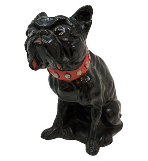 Antique Chalkware Bulldog