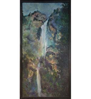 "Waterfall - Oil on Canvas 13""x 25"""