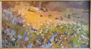 Field of Flowers - Oil on Canvas by Catherine McCormick
