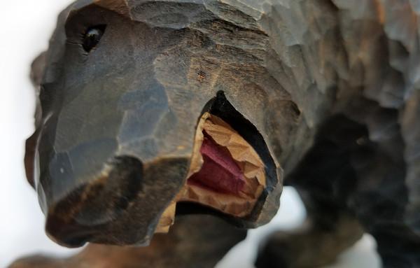 Black Forest bear face detail