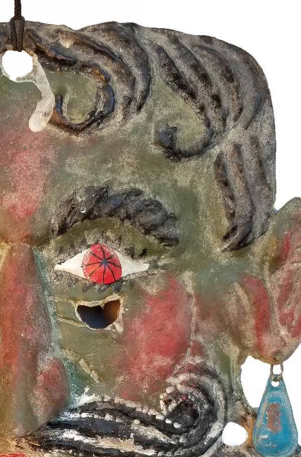 Guerrero copper Folk art Mask top right detail