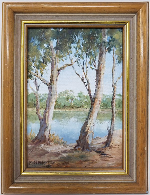 Oil on Board Painting - Eucalyptus Trees - 7x9
