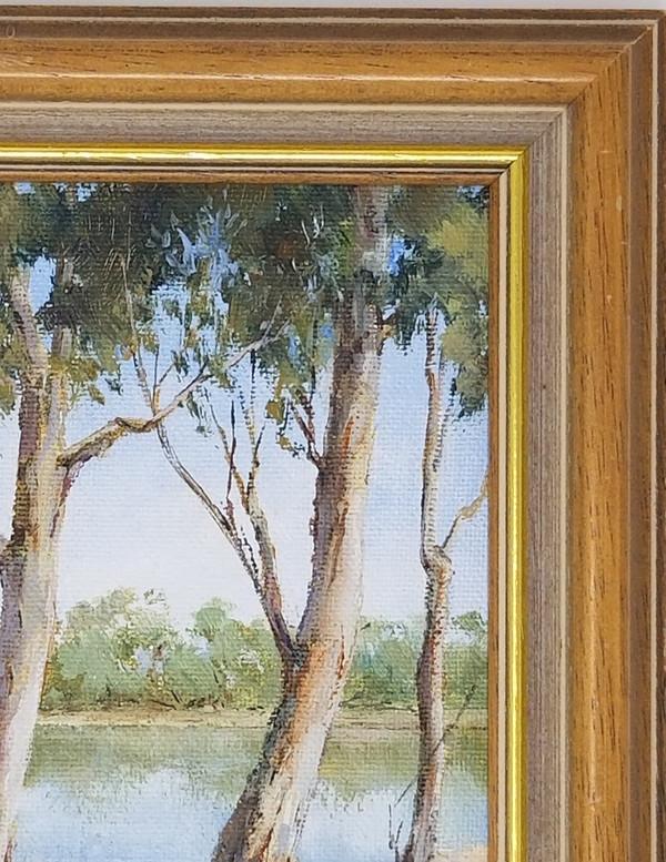 Oil on Board Painting - Eucalyptus Trees - 7x9