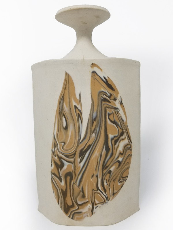 Pottery Vase - White Clay Slab