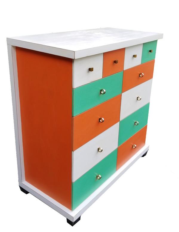 Mid Century Multi-Colored Dresser
