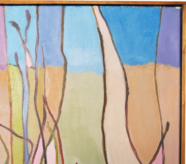 "Abstract ""Grasses"" Oil on Canvas by Lois Foley"