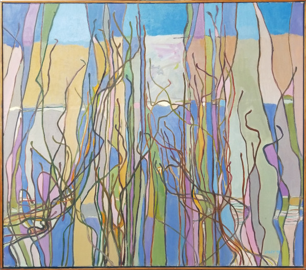 """Abstract """"Grasses"""" Oil on Canvas by Lois Foley"""