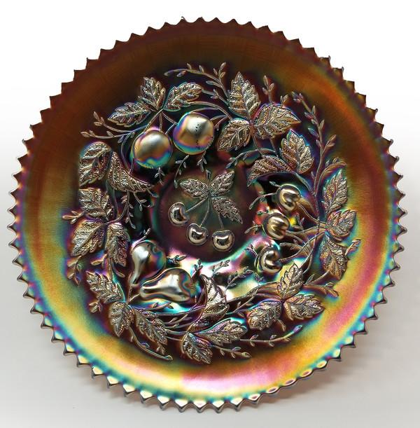 Northwood Art Glass - 3 Fruit Plate