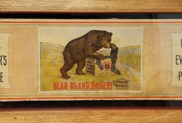 Original Bear Brand Hosiery framed art from Sonoma Nesting Company.