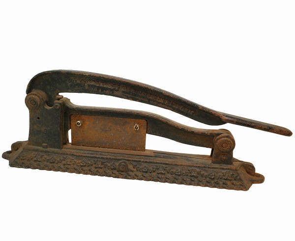 Antique iron tobacco cutter.