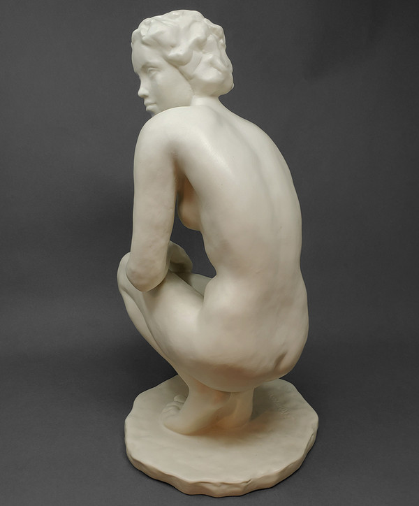 Porcelain figure of crouching woman by Rosenthal of Germany.