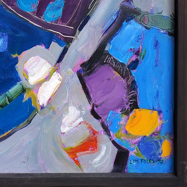 """Lois Foley Abstract - Oil on Canvas 31.5""""x 31.5"""""""
