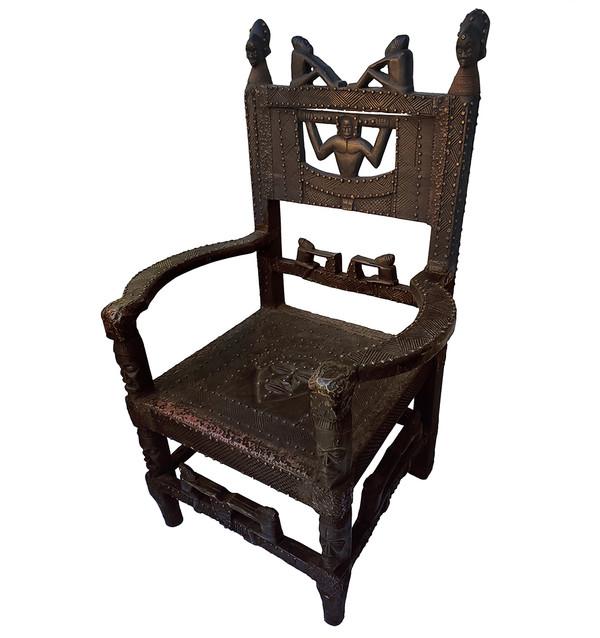 Chokwe Carved Chair