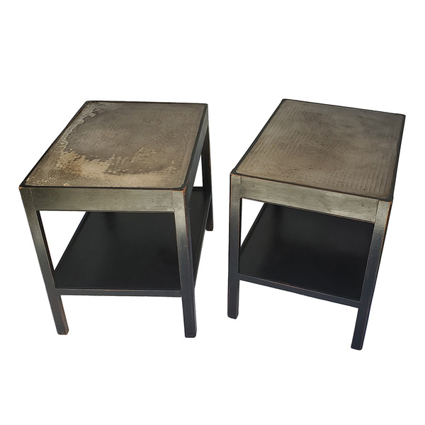 Concrete-Topped Side Tables