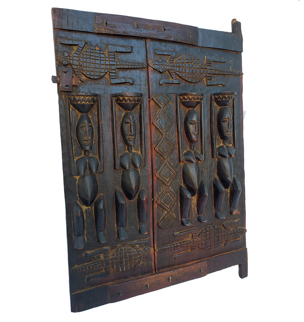 Carved Dogon Door Panel