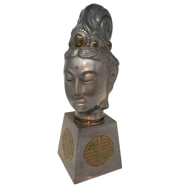 Pewter Quan Yin Head