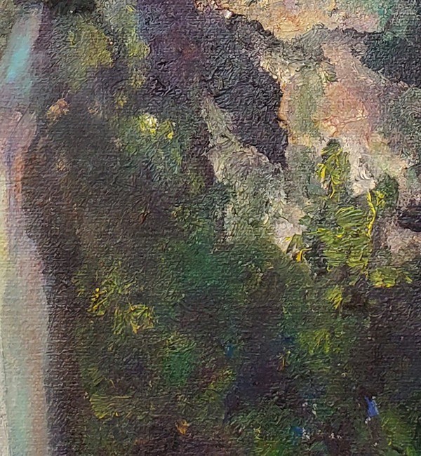 """Waterfall - Oil on Canvas 13""""x 25"""""""
