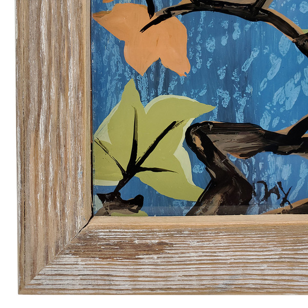 "Dax Berg ""Night Owl"" -  Acrylic on Glass 18.5""x 14"""