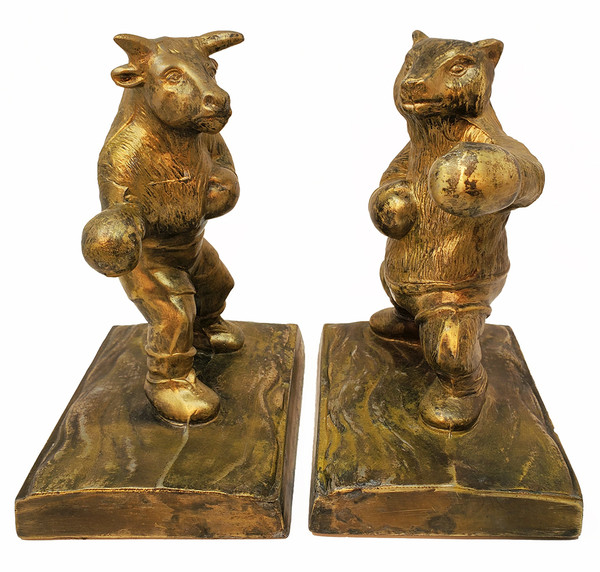 Bull and Bear Bookends