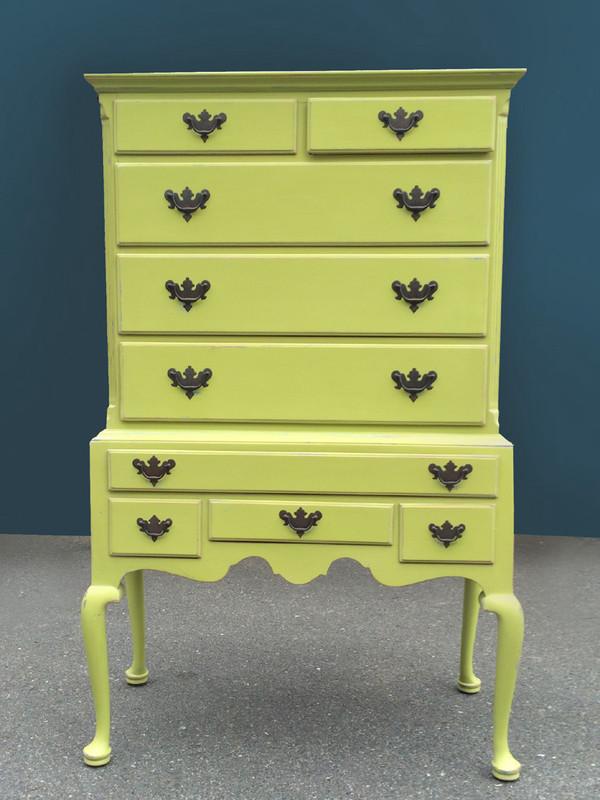 Tallboy Dresser in Green Apple