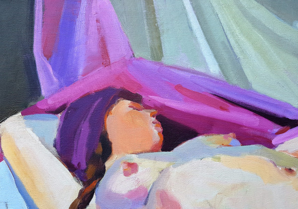 Reclining Nude - Oil on Canvas  by Lois Foley